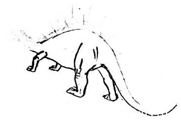 Рисуем стегозавра с натуры