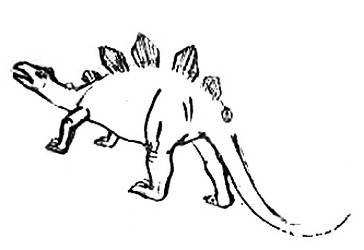 Рисуем стегозавра поэтапно