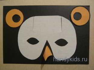 Выкройка маски совы
