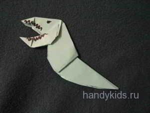 Сделаем голову модели динозавра из бумаги