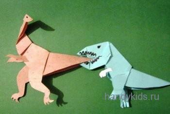 Динозавры из бумаги