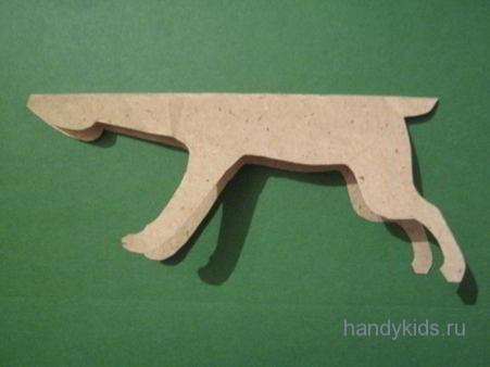Выкройка модели зайца из бумаги