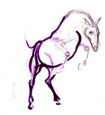 Урок рисования лошади