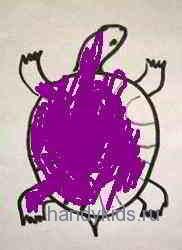 Раскрасим раскраску Черепаха