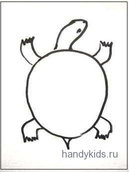Раскраска Черепаха или Как раскрасить узор в овале