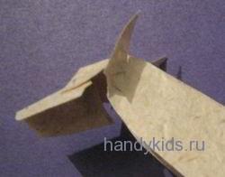 Голова волка из бумаги