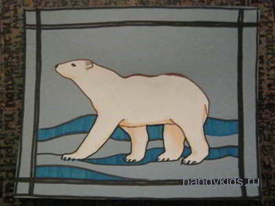 Выполним аппликацию Белый медведь