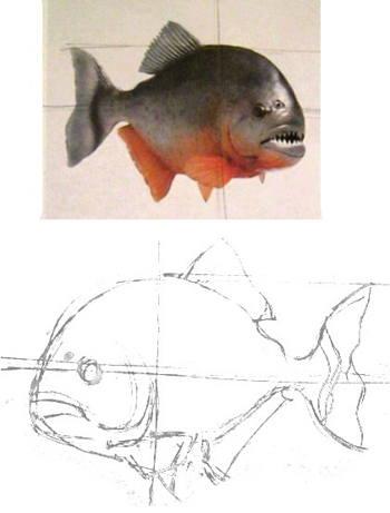 Рисуем пиранью