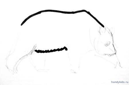 Этапы рисования панды