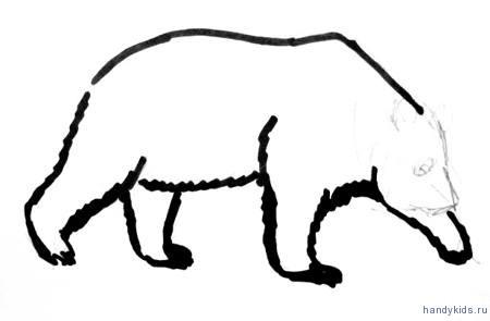 Рисуем лапы панды