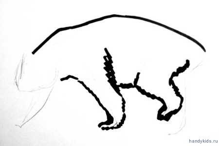 Поэтапный рисунок панды.