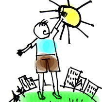 Нарисовать солнце