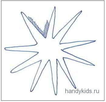 Раскраска Морская Звезда.