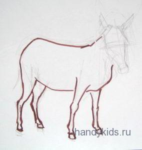 Как рисовать осла