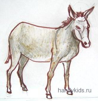 Как нарисовать осла