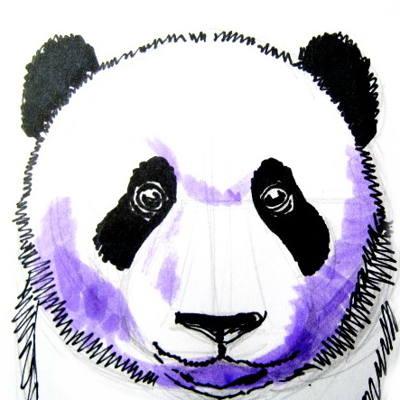 Голова(морда)панды рисунок