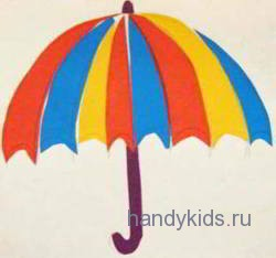 Аппликация зонт