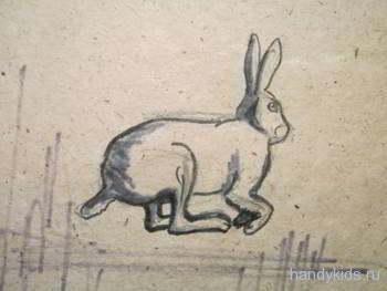 Скачущий заяц