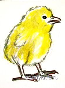 Рисунок Цыплёнок