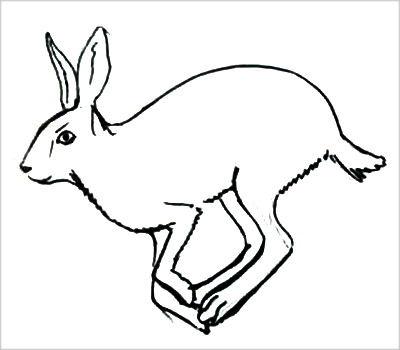 Скачущий заяц рисунок