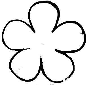 Шаблон цветка 5 лепестков