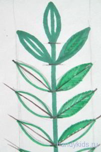 Штриховка Листья