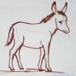 Как  нарисовать ослика