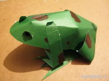 Бумажная жаба