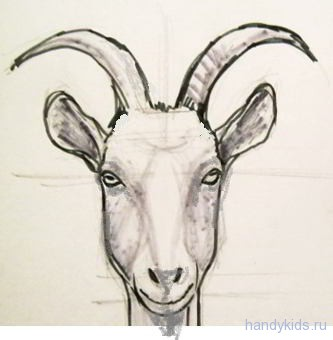 рисунок-голова козла