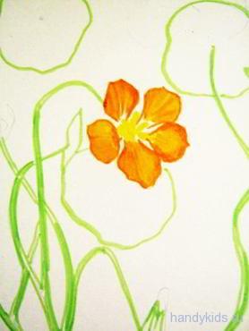 Рисуем красивый цветок поэтапно
