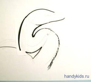 Как нарисовать голову цапли