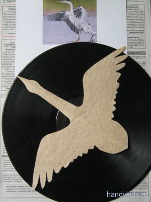 Выкройка птицы из бумаги