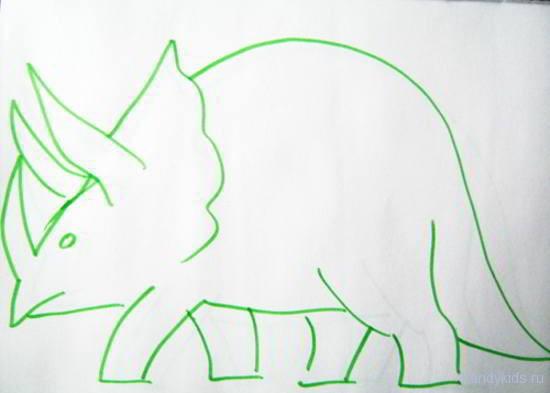 Трицератопс  рисунок