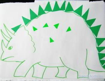 Выполним аппликацию динозавр