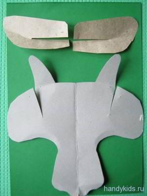 Выкройка маски козлёнка