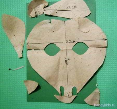 Выкройка маски козы