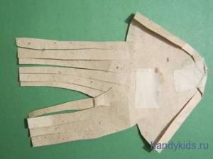Выкройка нижней челюсти маски козла