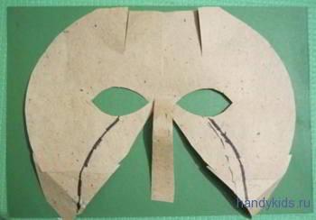 Сделаем карнавальную маску козла