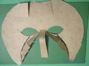 Делаем маску козла своими руками.