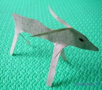 Коза -модель из бумаги
