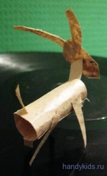 Коза из бумаги