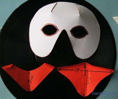 Выкройка маски гуся