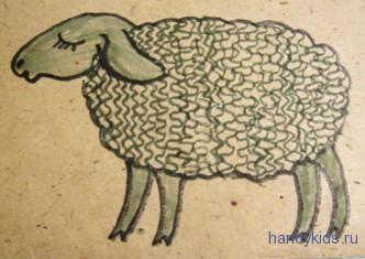 Раскраска овечка