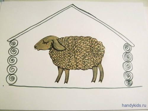 Как выполнить аппликацию овечка