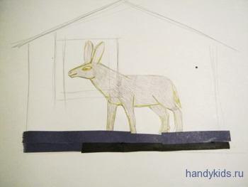 Строим домик для ослика