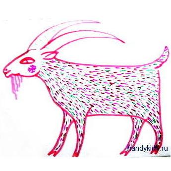 Лубочный козёл -штриховка