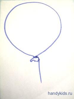 Как выполнять раскраску Воздушный Шарик