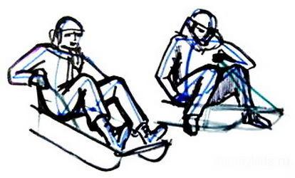 Рисуем детей катающихся на санках-024