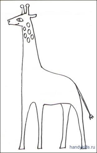 Жираф раскраска