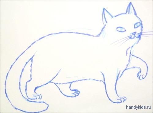Раскраска Кошечка